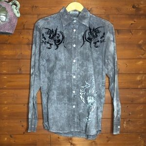 Eighty Eight long sleeve button up Size S